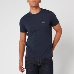 BOSS Men's Basic Crew Shoulder Logo T-Shirt - Navy