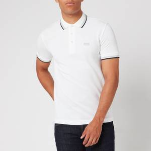 BOSS Men's Paddy Tipped Polo Shirt - White