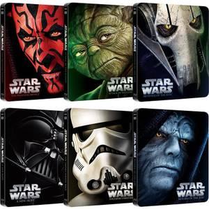 Star Wars Collection I-VI Steelbooks d'édition limitée
