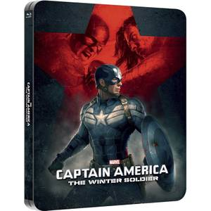 Captain America: Le soldat de l'hiver 3D (avec 2D) - Steelbook lenticulaire d'édition limitée exclusive Zavvi (Édition UK)