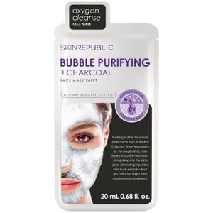 Тканевая маска для лица с древесным углем Skin Republic Bubble Purifying + Charcoal Face Mask
