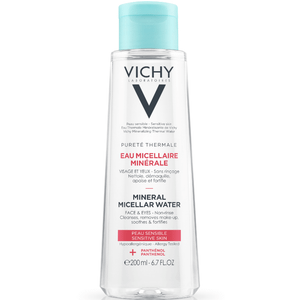 Vichy Pureté Thermale Micellar Cleansing Water 3-in-1 One Step Cleanser and Makeup Remover, 6.76 Fl. Oz.