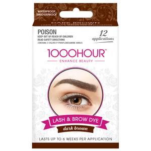 1000 Hour Eyelash & Brow Dye Kit - Dark Brown