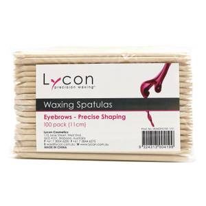 Lycon Waxing Spatulas Eyebrows - Precise Shaping 100 Pack