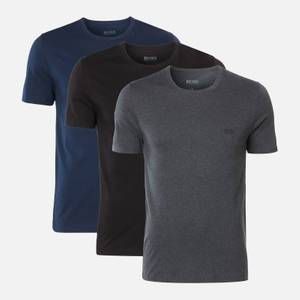 BOSS Men's Triple Pack T-Shirts - Navy/Grey/Black