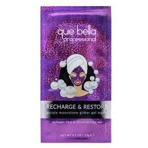 Que bella Recharge & Restore Moonstone Glitter Gel Mask (Worth £2.49)