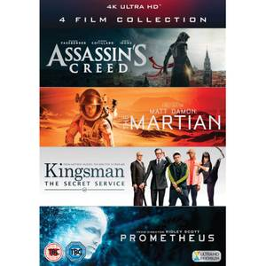4K Ultra HD - 4 Film Collection (Assassin's Creed, Kingsman, Prometheus, The Martian)