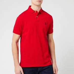 Polo Ralph Lauren Men's Custom Slim Fit Mesh Polo Shirt - RL2000 Red