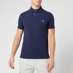 Polo Ralph Lauren Men's Slim Fit Short Sleeved Polo Shirt - Newport Navy