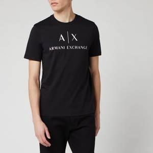 Armani Exchange Men's Script Logo T-Shirt - Black
