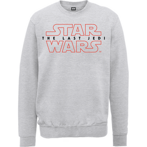 Star Wars The Last Jedi Men's Grey Sweatshirt
