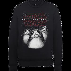 Sweat Homme Star Wars : Les Derniers Jedi Porgs - Noir