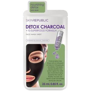 Детокс-маска с активированным углем Skin Republic Superfood Detox + Charcoal Mask 25 мл