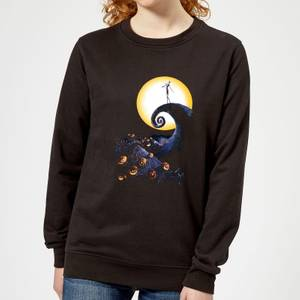 The Nightmare Before Christmas Jack Skellington Pumpkin King Colour Women's Schwarz Pullover