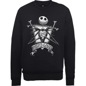 The Nightmare Before Christmas Jack Skellington Misfit Love Schwarz Pullover