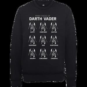 Star Wars Many Faces Of Darth Vader Sweatshirt - Black