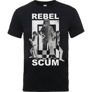 T-Shirt Star Wars Rebel Scum- Nero