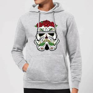 Felpa con cappuccio Star Wars Day Of The Dead Stormtrooper Pullover- Grigio