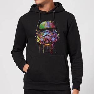 Sweat à Capuche Homme Éclaboussures de Peinture Stormtrooper - Star Wars - Noir