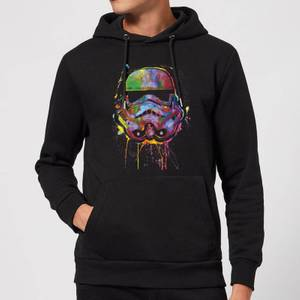 Felpa con cappuccio Star Wars Paint Splat Stormtrooper Pullover- Nero