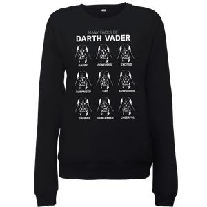 Star Wars Many Faces Of Darth Vader Women's Sweatshirt - Black