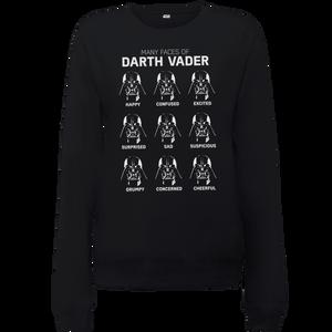 Sweat Femme Les Visages de Dark Vador - Star Wars - Noir