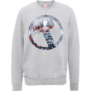Sweat Homme Marvel Avengers Assemble - Thor Montage - Gris