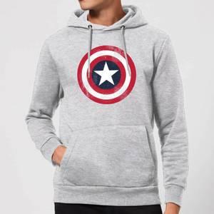 Sweat à Capuche Femme Marvel Avengers Assemble - Captain America Bouclier Abimé - Gris