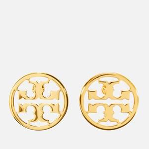 Tory Burch Women's Logo Circle-Stud Earrings - Tory Gold