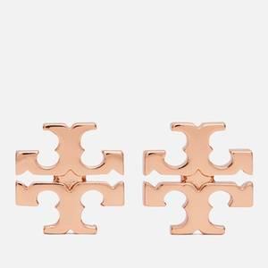 Tory Burch Women's Logo Stud Earrings - Rose Gold