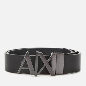 Armani Exchange Men's Ax Buckle Belt - Black Phantom