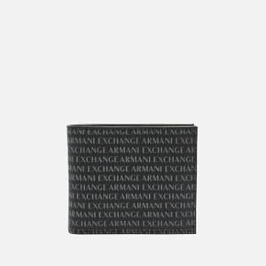 Armani Exchange Men's All Over Print Bifold Wallet - Black