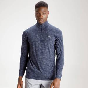 Performance 1/4 Zip Top - Navy Marl