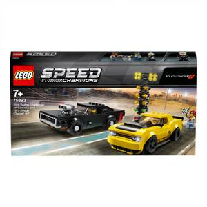 LEGO® Speed Champions: 2018 Dodge Challenger SRT Demon und 1970 Dodge Charger R/T (75893)