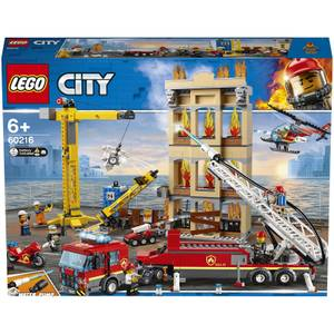 LEGO City: Downtown Fire Brigade Crane Truck Copter Set (60216)
