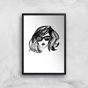 Rock On Ruby On Point Art Print