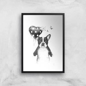 Balazs Solti Bulldog and Balloon Art Print