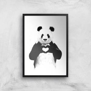 Balazs Solti Panda Love Art Print