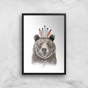 Balazs Solti Native Bear Art Print