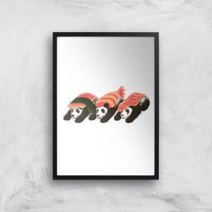 Tobias Fonseca Panda Sushi Art Print
