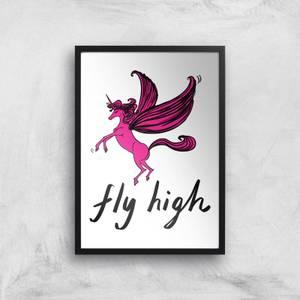 Rock On Ruby Fly High Art Print