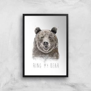 Balazs Solti Ring My Bear Art Print