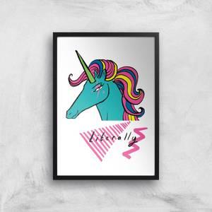 Rock On Ruby Literally Art Print