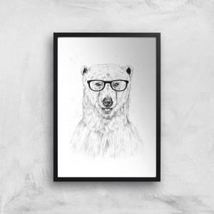 Balazs Solti Polar Bear and Glasses Art Print
