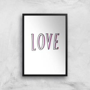 Rock On Ruby Love Art Print