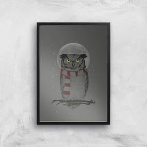 Balazs Solti Owl and Moon Art Print