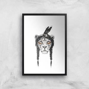 Balazs Solti Native Lion Art Print