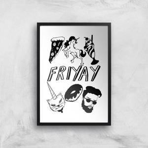 Rock On Ruby Friyay Art Print