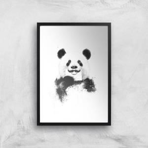 Balazs Solti Moustache and Panda Art Print