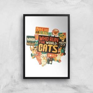 Tobias Fonseca Who Run The World? Cats. Art Print